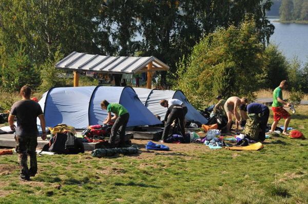Рыбалка в карелии с палатками